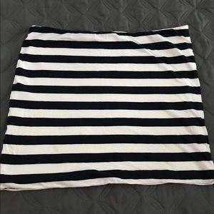 Cotton jersey mini skirt